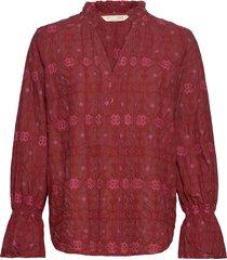 célia blouse blouse lange mouwen rood odd molly