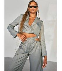 getailleerde baggy blazer, grey