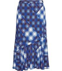 luannegz skirt ma19 knälång kjol blå gestuz