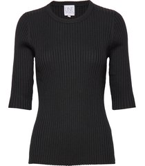 mary tencel t-shirts & tops knitted t-shirts/tops svart line of oslo