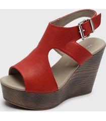 sandalia cuero rojo bruno rossi