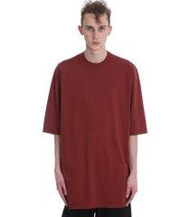 drkshdw jumbo t-shirt in bordeaux cotton
