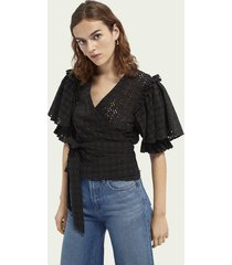scotch & soda broderie anglaise top
