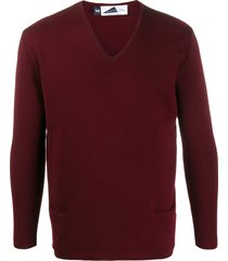 anglozine long-sleeve fitted sweater - red