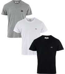 ben sherman mens baxter 3 pack t-shirt size s in black