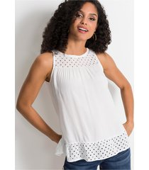 blousetop met broderie anglaise