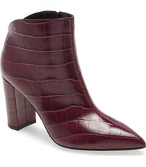 women's marc fisher ltd unno pointed toe bootie, size 11 m - burgundy