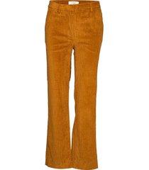 corduroy trousers utsvängda byxor brun just female