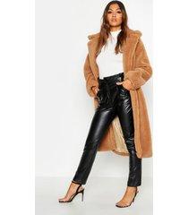 oversized faux fur teddy jas, kameel