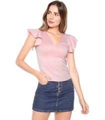 blusa manga bolero rosa mítica