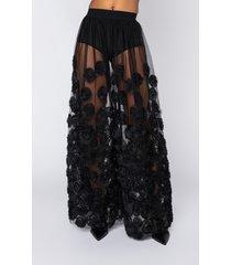 akira im good love, mesh maxi skirt