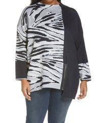 plus size women's nic+zoe women's tahoe zip sweater