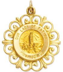 14k gold charm, our lady of fatima charm