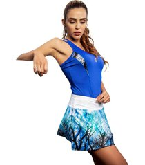 falda dama con fit interno azul rey mia r-7802