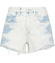 women's blanknyc the barrow high waist cutoff denim shorts, size 24 - white