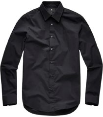 g-star core super slim shirt l/s zwart