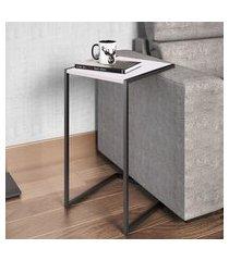 mesa para sala de estar artesano lateral mdp branco