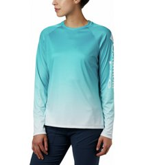 columbia plus size pfg super tidal printed active t-shirt