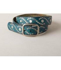 sundance catalog women's sea drops belt in teal medium