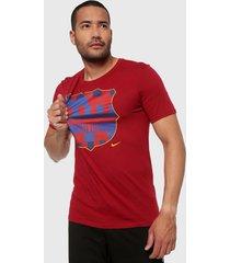 camiseta barcelona fc rojo nike  20 years noble