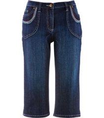 jeans capri elasticizzati (blu) - bpc bonprix collection