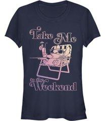 fifth sun women's disney lilo stitch weekend stitch short sleeve t-shirt