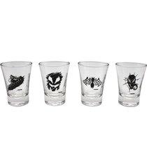 conjunto de 4 copos shot 60 ml venon - conjunto de 4 copos shot em vidro 60 ml venon