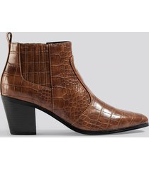 mango dorado ankle boots - brown