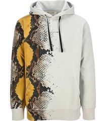 1017 alyx 9sm alyx snakeskin-print cotton hoodie