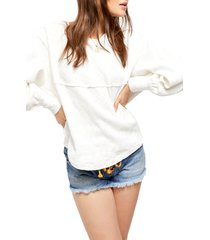 women's free people og thermal pullover, size x-small - ivory