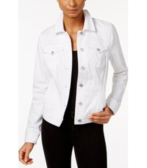 style & co. petite denim jacket, created for macy's