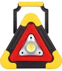 triângulo refletor luminária recarregável luz solar super led luminoso sinalização carro caminhonete