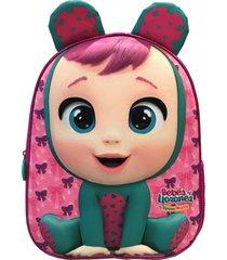 mochila 3d lala con orejas multicolor cry babies
