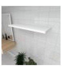 prateleira para banheiro mdf suporte inivisivel cor branco 90(c)x30(p)cm modelo pratbnb19