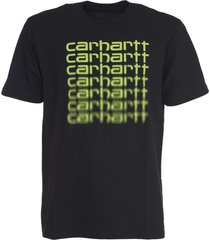 carhartt black t-shirt with yellow logo