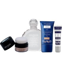 kit coffret maquillage anna pegova - solução micelar 200ml + bb cream multifuncional 30g + pó facial translúcido 6g + corretivo alta definição 5g