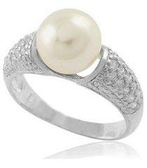 anel de prata com pérola e zircônia