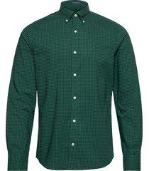 slim bc 2 col gingham bd overhemd casual groen gant