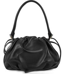 bonnie black reversible leather shoulder bag