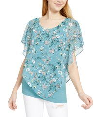 bcx juniors' floral popover top