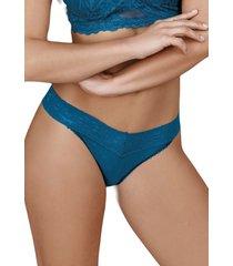 calcinha fio dental xamego demillus 16198 azul klein - azul - feminino - dafiti