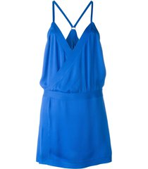 dsquared2 spaghetti strap loose dress - blue