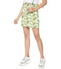 falda amarillo-verde-blanco glamorous