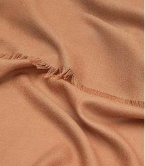 reiss iris - wool silk blend lightweight scarf in camel, womens