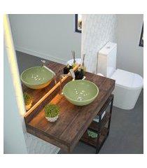 cuba de apoio para banheiro redonda trevalla r30 mármore