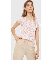 blusa blanco-rosa active