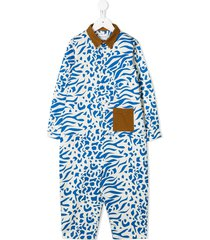 wolf & rita animal print jumpsuit - blue