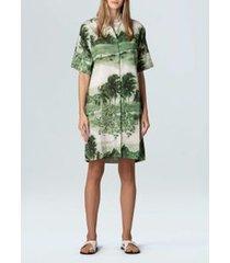 vestido chemise rj-offwhite/verde
