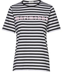 logo lyhythiha mari t-shirt t-shirts & tops short-sleeved multi/patroon marimekko