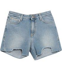 care label denim shorts